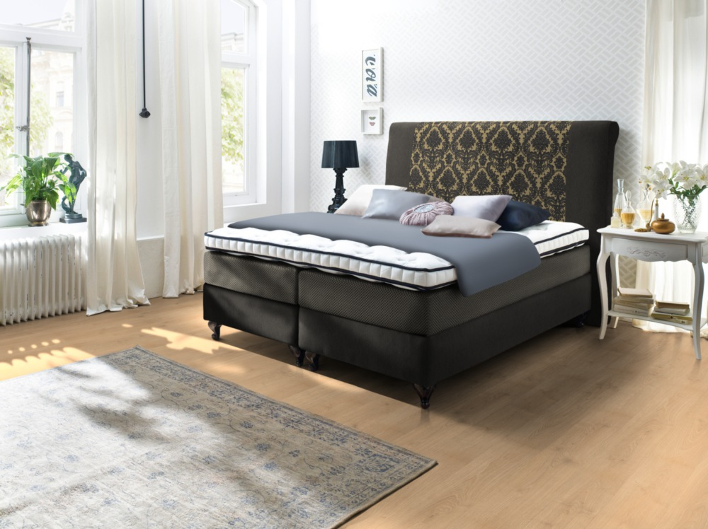 boxspringbett belfast direkt vom hersteller stoffe nach wahl. Black Bedroom Furniture Sets. Home Design Ideas