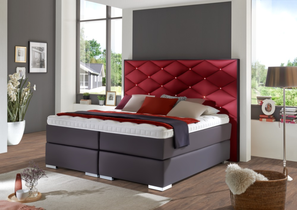 boxspringbett ravenna 2 direkt vom hersteller stoffe nach wahl. Black Bedroom Furniture Sets. Home Design Ideas