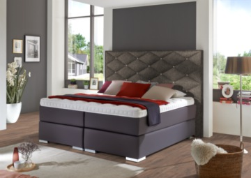 boxspringbett braun qualitativ hochwertige braune. Black Bedroom Furniture Sets. Home Design Ideas